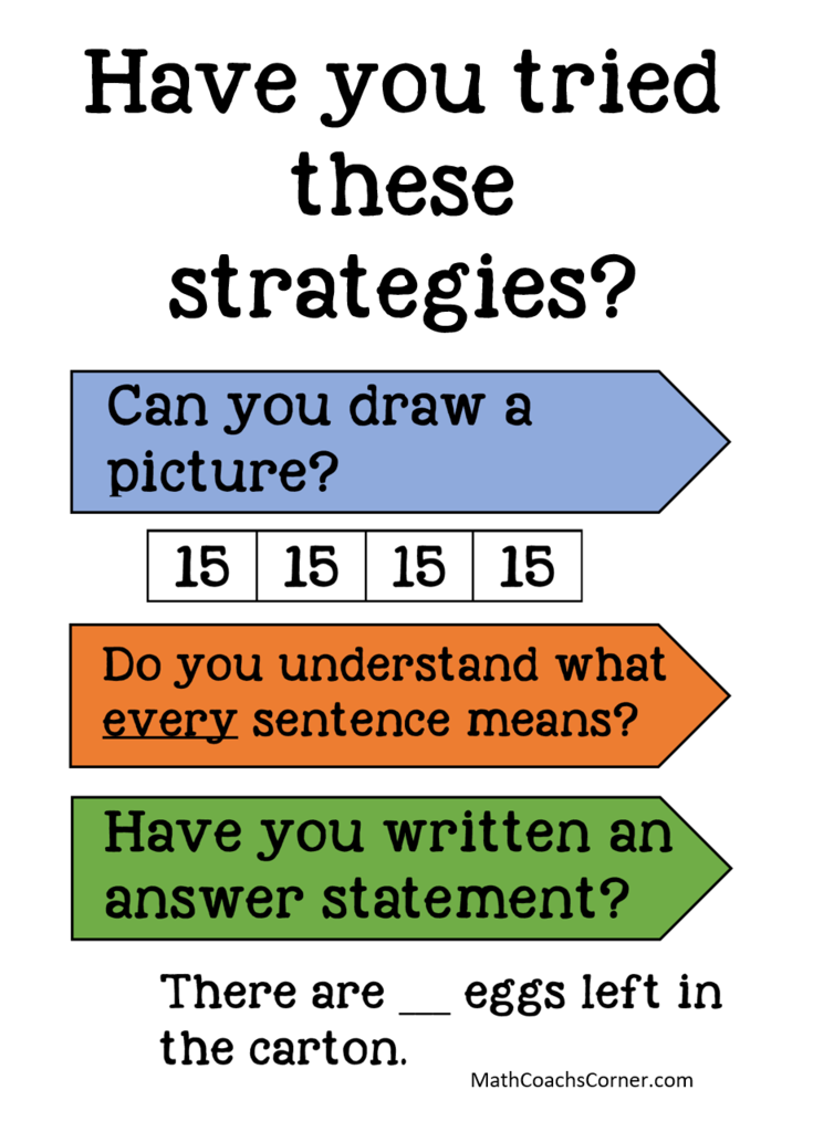 steps for solving complicated math word problems