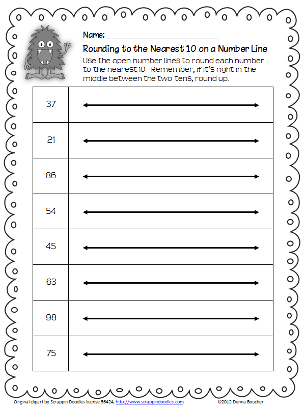 Rounding on an Open Number Line Math Coachs Corner – Fraction Number Line Worksheets Grade 3