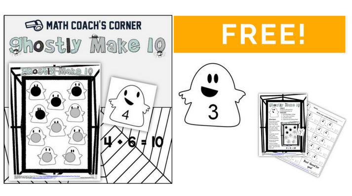Boo!  Ghostly Math Fun for Making Ten