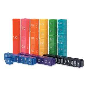 Learning Resources LER2509 Learning Resources Fraction Tower Activity Set, 51 Cubes, Grades 1-6