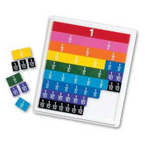 Learning Resources Rainbow Fraction Tiles with Tray