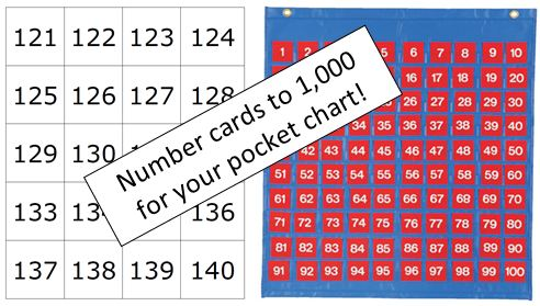 Worksheets Number Chart 1000 pocket chart number cards to 1000 math coachs corner looking for more hundred activities larger numbers check out 100 and beyond charts youll get red as we