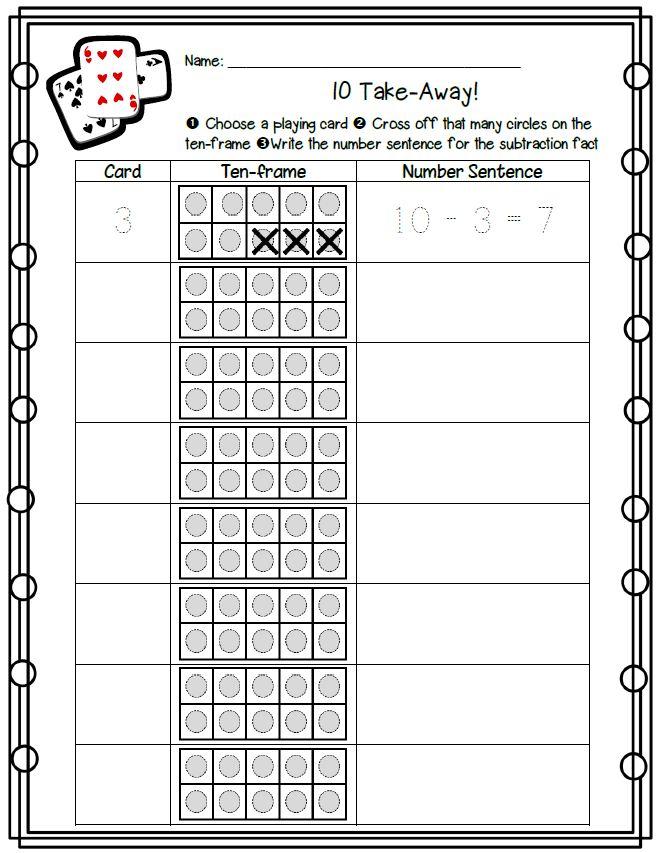 Ten Take-Away - Math Coach\'s Corner