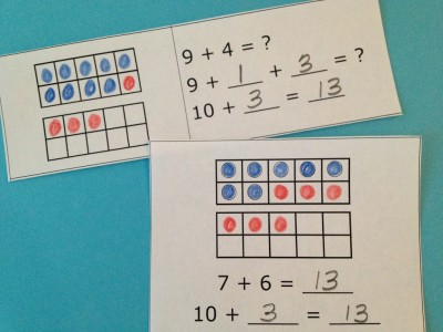 Using the Make-a-Ten strategy for addition facts