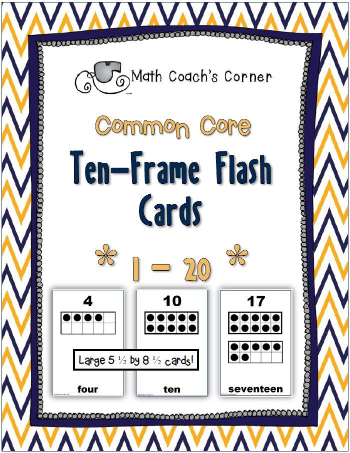 Ten-Frame-Flash-Cards-1 - Math Coach\'s Corner