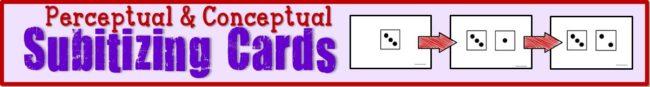 Subitizing Cards Perceptual and Conceptual