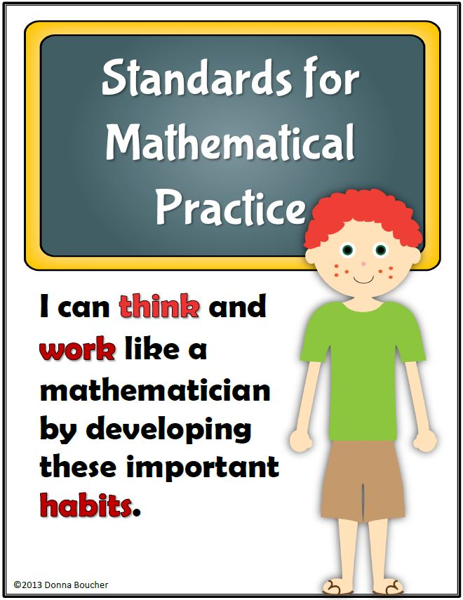 Standards for Mathematical Practice Posters, Intermediate - Math ...