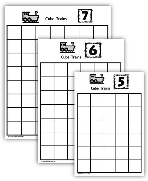 Composing and Decomposing Numbers: Cube Trains - Math Coach\'s Corner