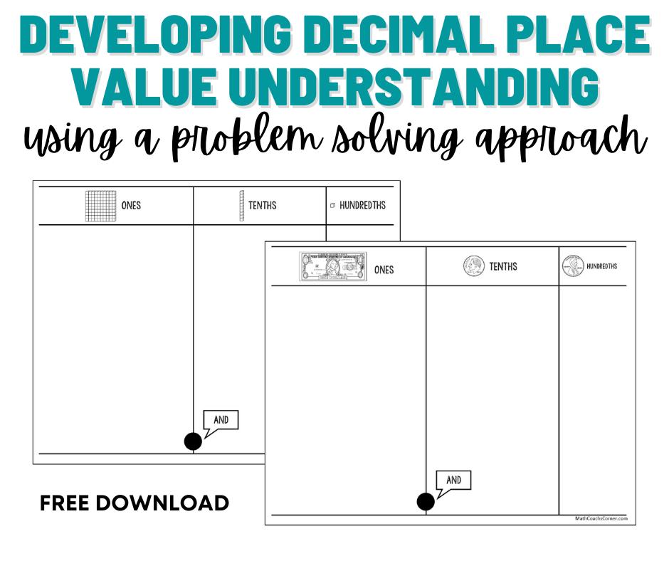 Models and manipulatives build understanding of decimal place value