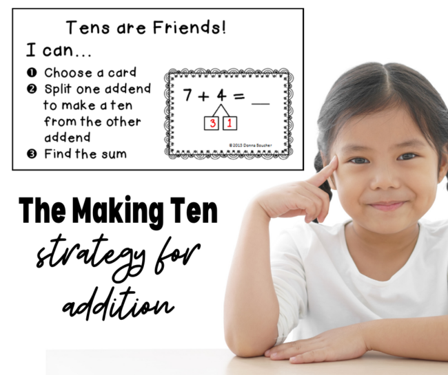 Grab a freebie for the make a ten strategy for addition