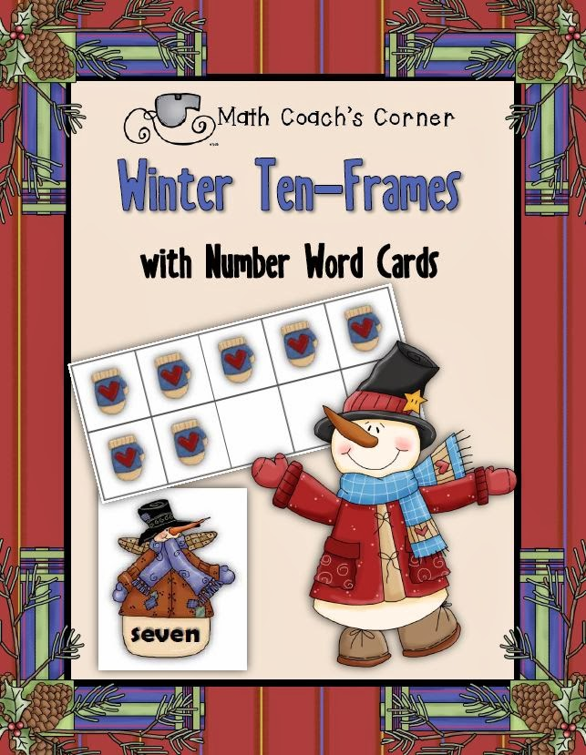 Happy Holidays with FREE Winter Ten-Frames - Math Coach\'s Corner