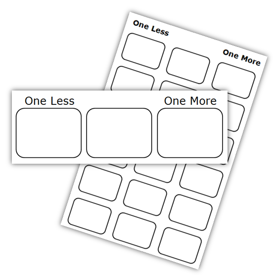 One More And Less Freebie Math Coach's Corner. One More And Less Freebie. Worksheet. 1 More 1 Less Worksheet At Clickcart.co