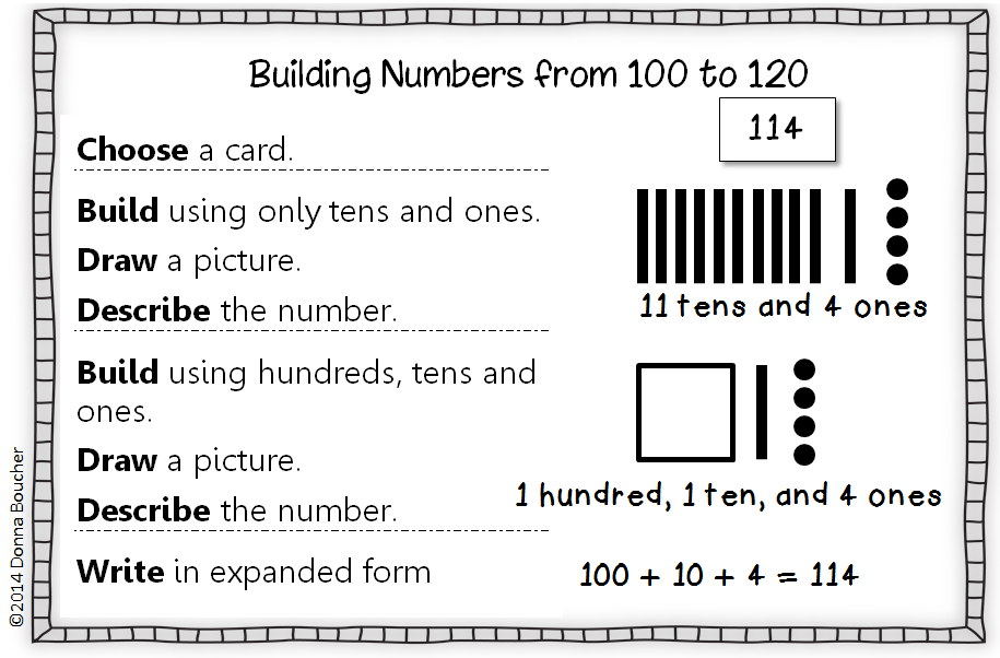 Exploring Numbers to 120Concrete Representational and Abstract – Composing and Decomposing Numbers Worksheet