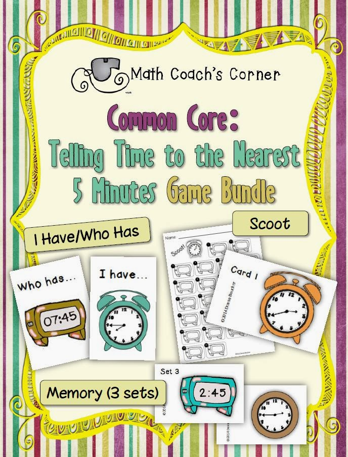 Engaging Games for Telling Time - Math Coach's Corner