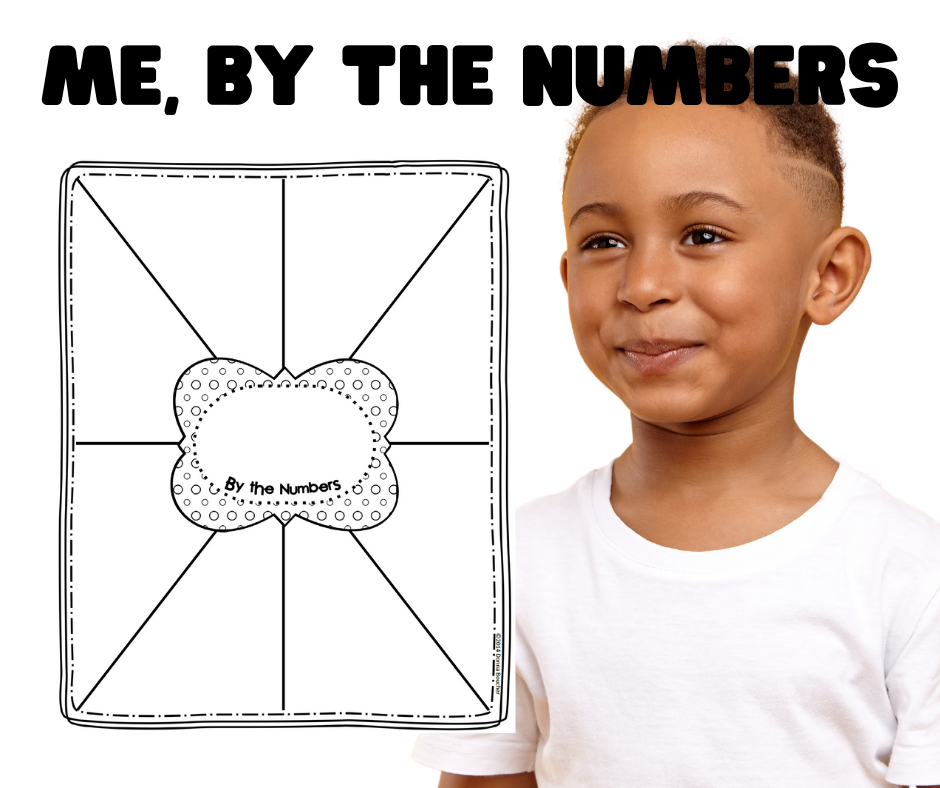 Create a Me By the Numbers poster using this template