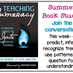Book Study Monday: Teaching Numeracy, Critical Habits 5 & 6