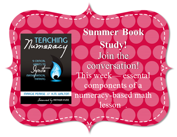 Book Study Monday: Teaching Numeracy,  Components 1, 2, & 3