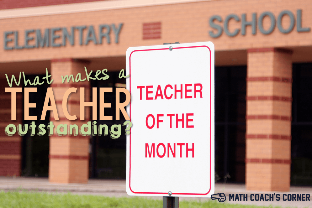 What Makes a Teacher Outstanding?