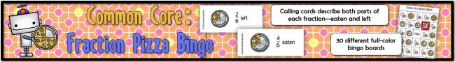 Fraction Pizza Bingo