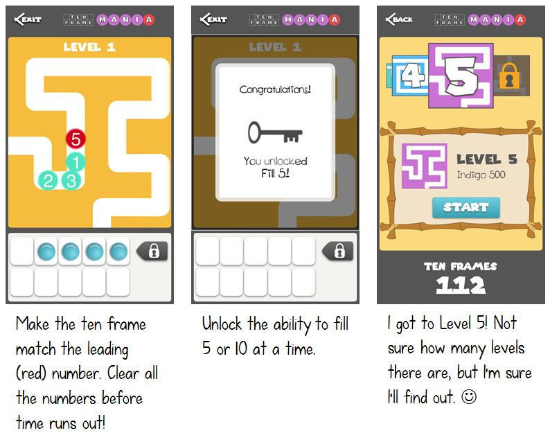 Ten Frame Mania-FREE App - Math Coach's Corner