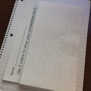 Worksheet in Journal