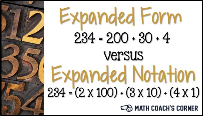 Expanded Form vs Expanded Notation