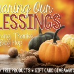 Sharing Our Blessings Giveaway and Blog Hop