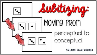 Subitizing Moving from Perceptual to Conceptual