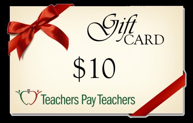 Flash Giveaway! Win a $10 TpT Gift Card!   Math Coach's Corner ...