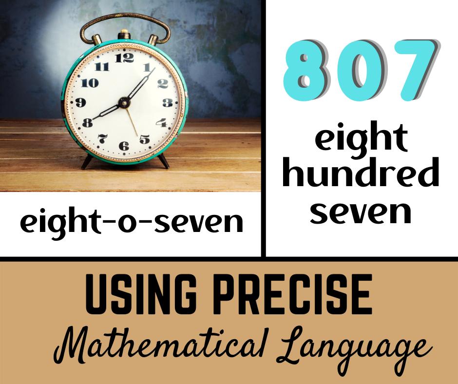 Using Precise Mathematical Language: Place Value