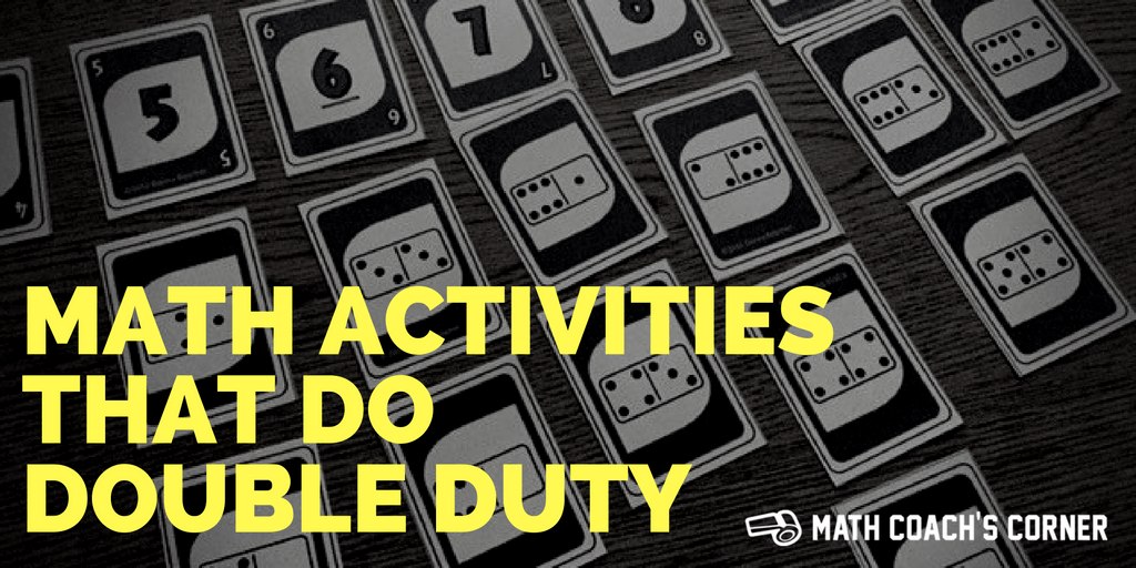 Math Activities That Do Double Duty
