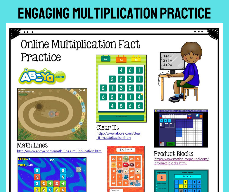 Online Multiplication Fact Practice