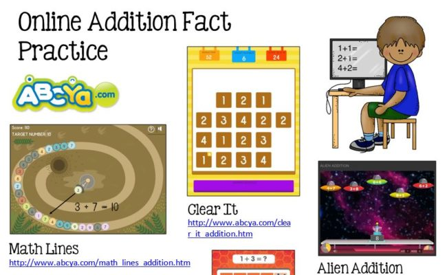 Online Addition Fact Practice - Math Coach's Corner