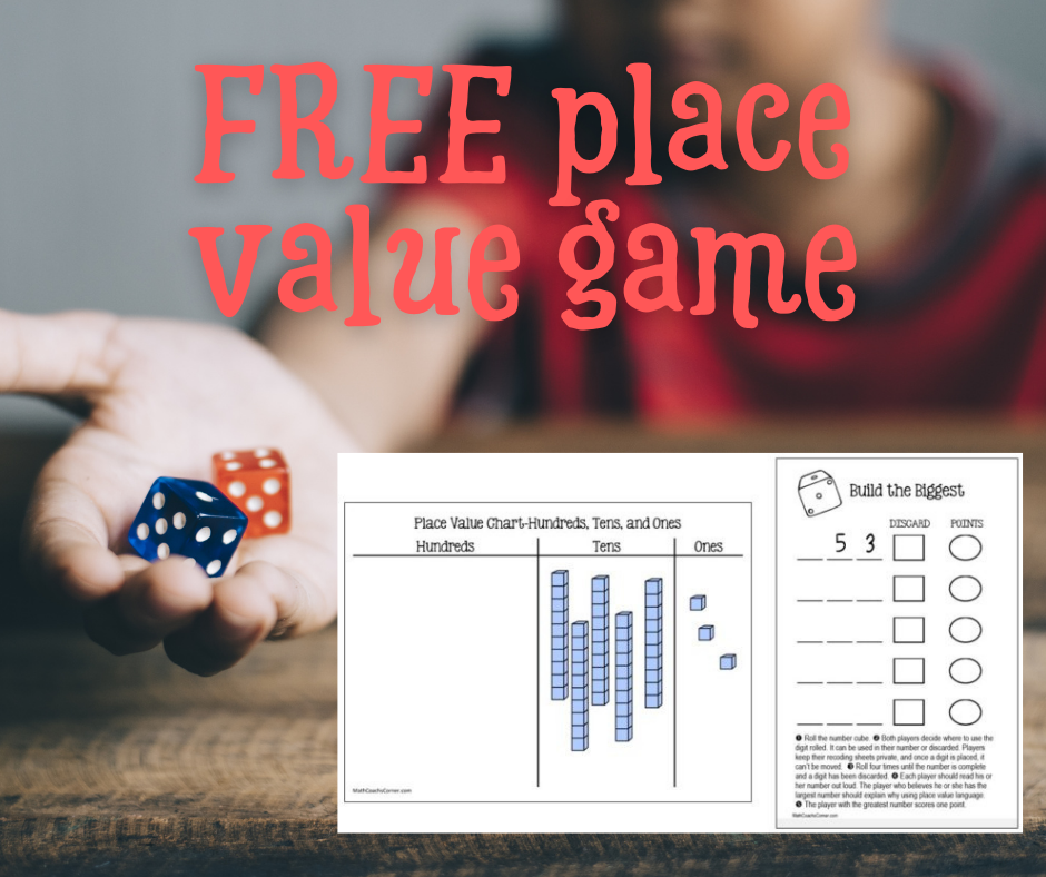 Easy 3- and 4-Digit Place Value Game