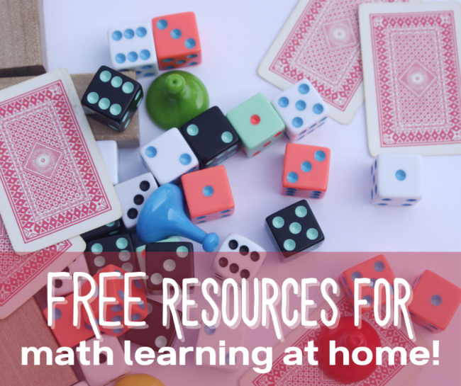 Tons of math activities for at-home learning