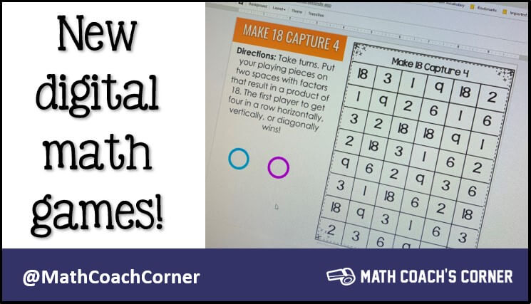 New Digital Math Games!