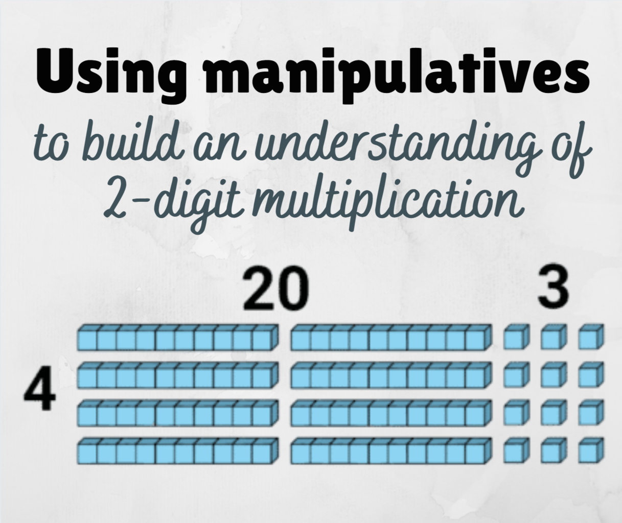 Using Manipulatives for Multi-Digit Multiplication