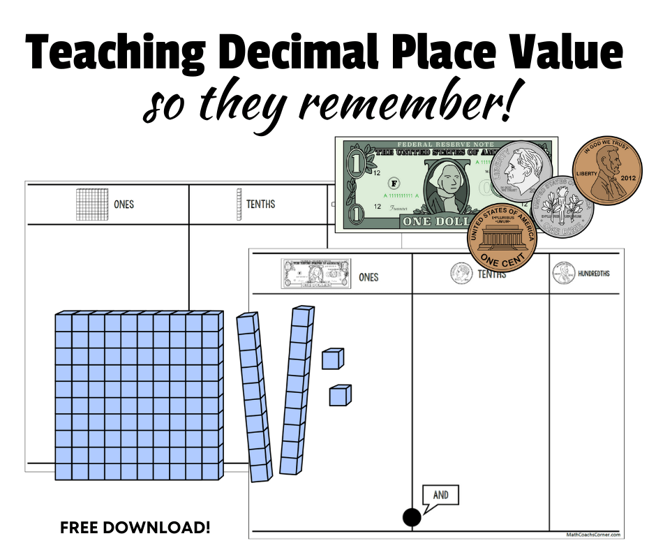 Teaching Decimal Place Value So They Remember!
